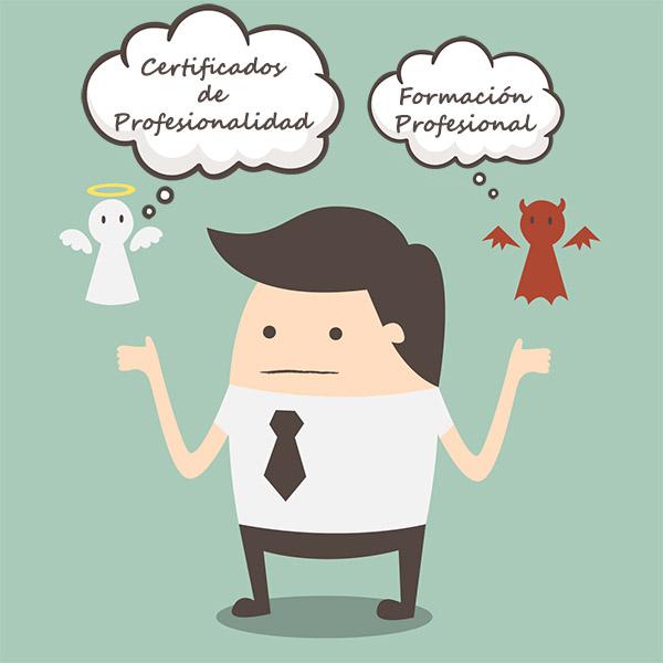 Diferencias entre certificado de profesionalidad y formación profesional
