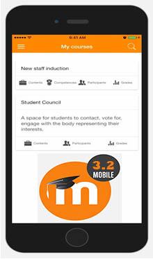 moodle mobile app - plataforma de teleformación